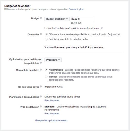 acquisition-de-leads-facebook-budget