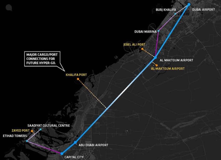 projet-hyperloop-uae-carte