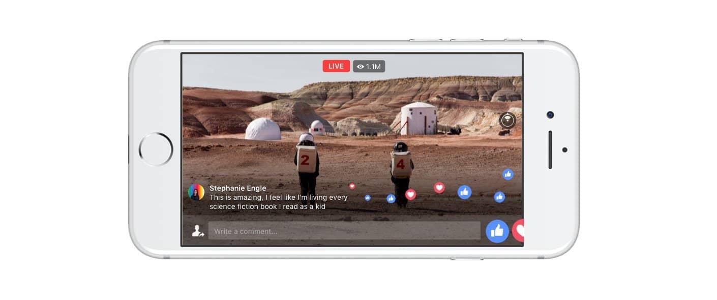 Facebook live 360 mobile