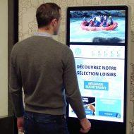 borne digitale tourisme