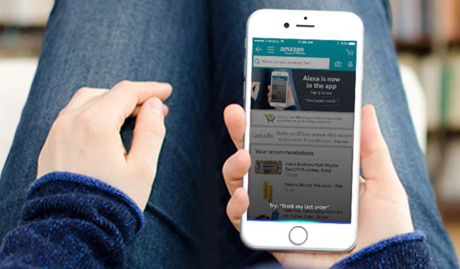 alexa sur les smartphone via l'application de commmerce d'Amazon