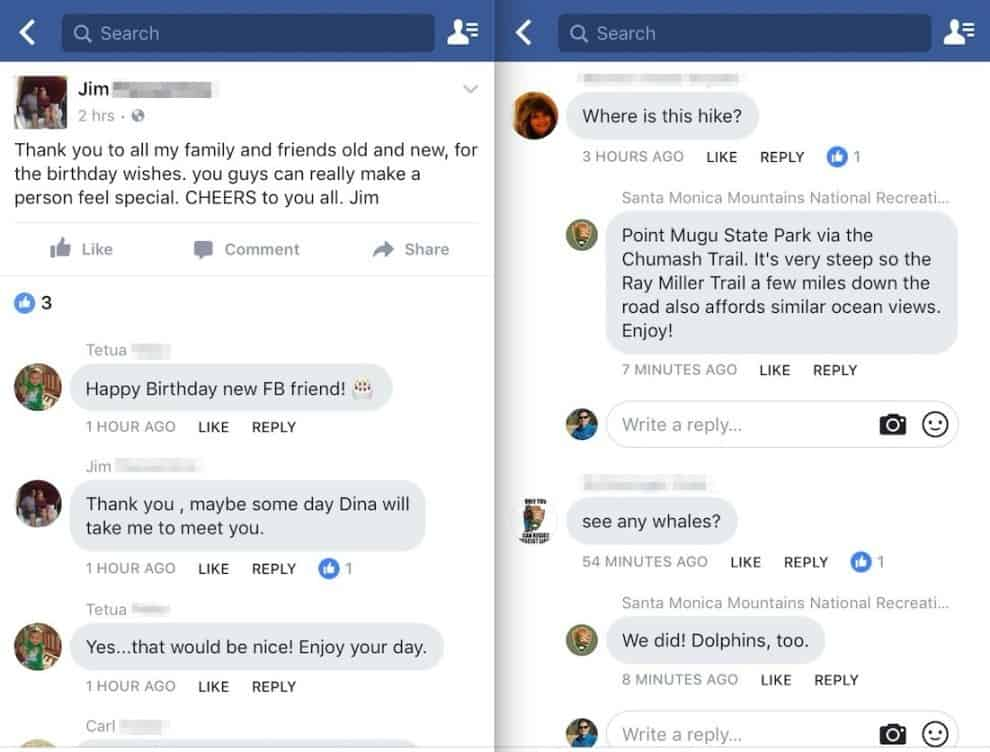 design calqué sur Messenger des commentaires Facebook