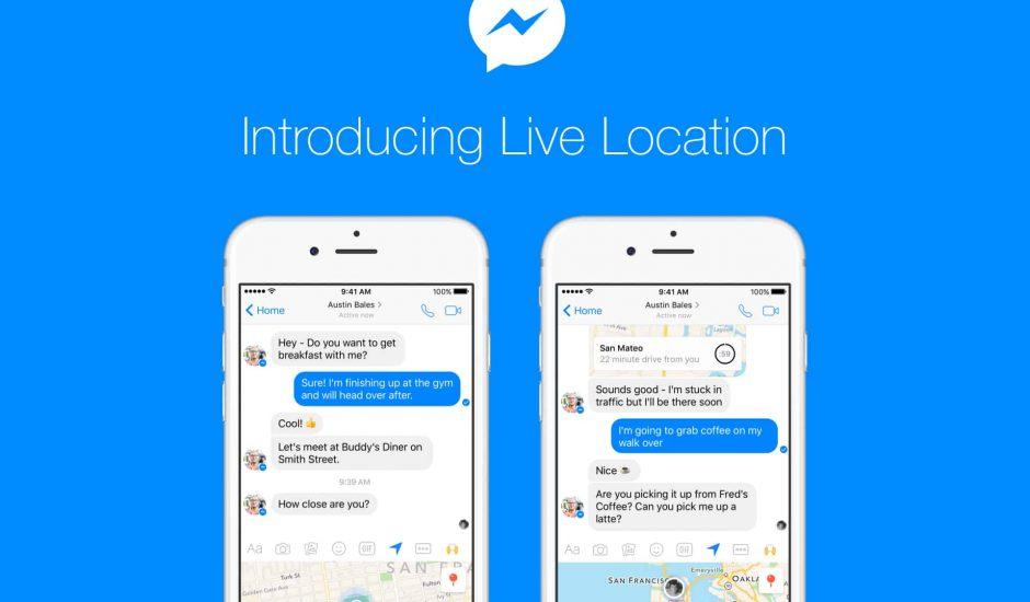 Facebook messenger partage position