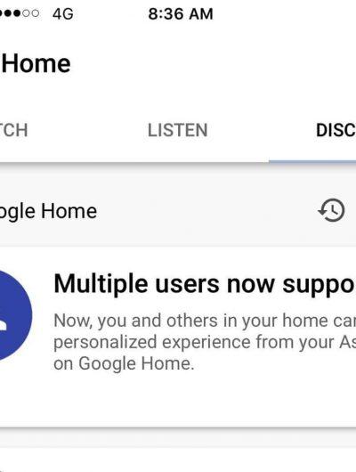 google home multi users