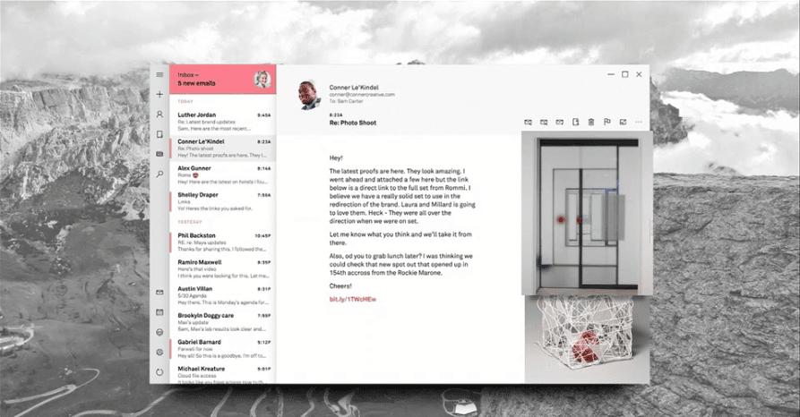 Email Fluent Design Microsoft