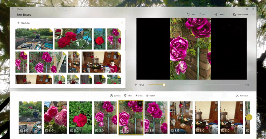 Photos Fluent Design Microsoft