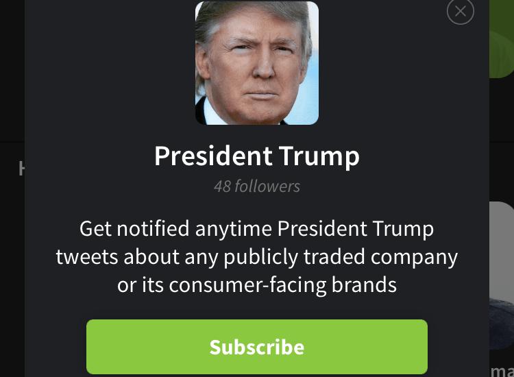 Trump LikeFolio