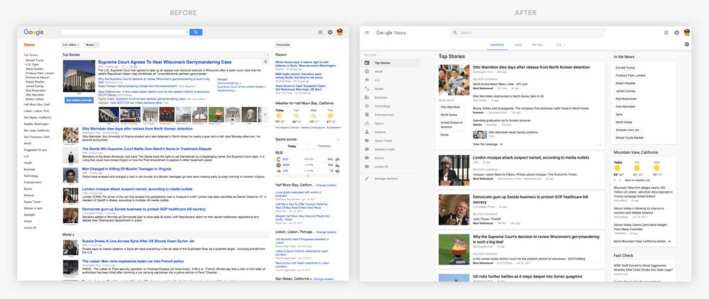 Google News interface