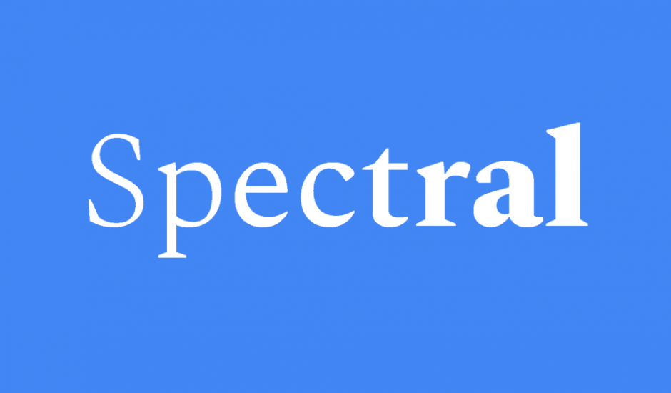 Typographie Spectral