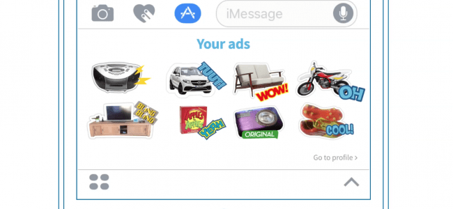 Autocollants Chat with your Ads