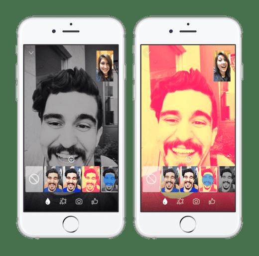 messenger video chat : filtres pour conversation
