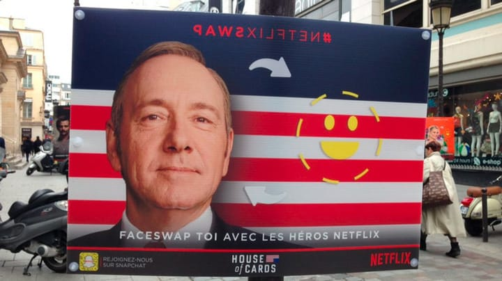 Faceswap publicité Netflix