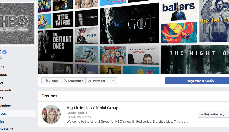 groupes pages facebook