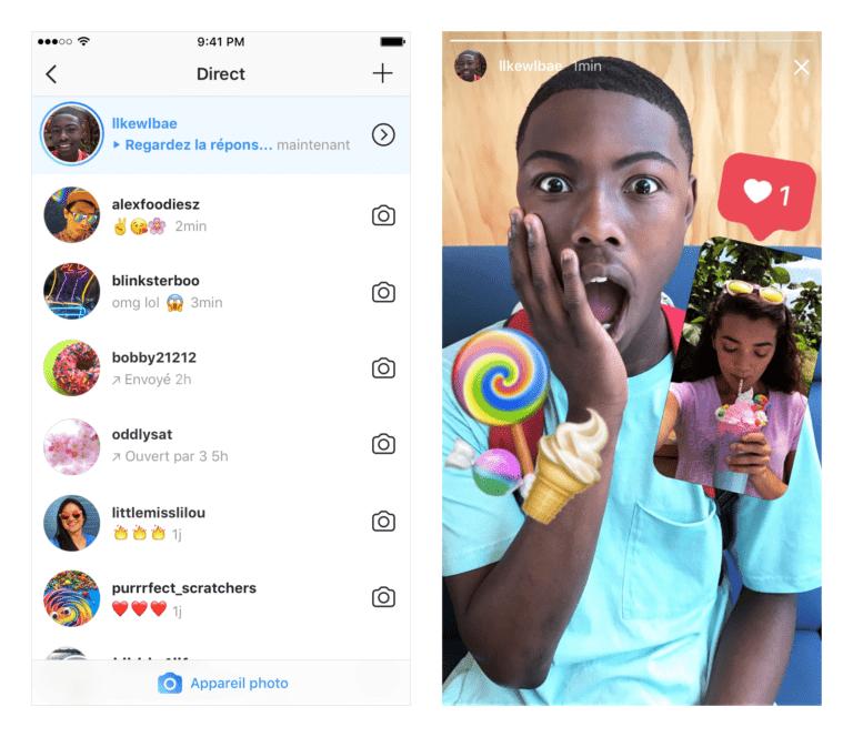 Répondre stories Instagram