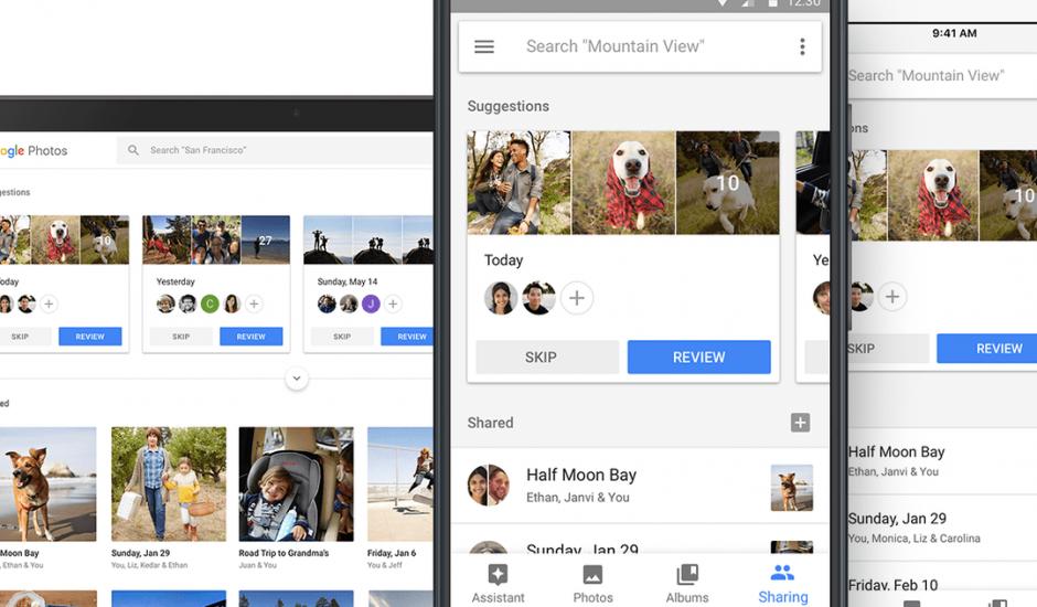 Google Photos partage intelligence artificielle