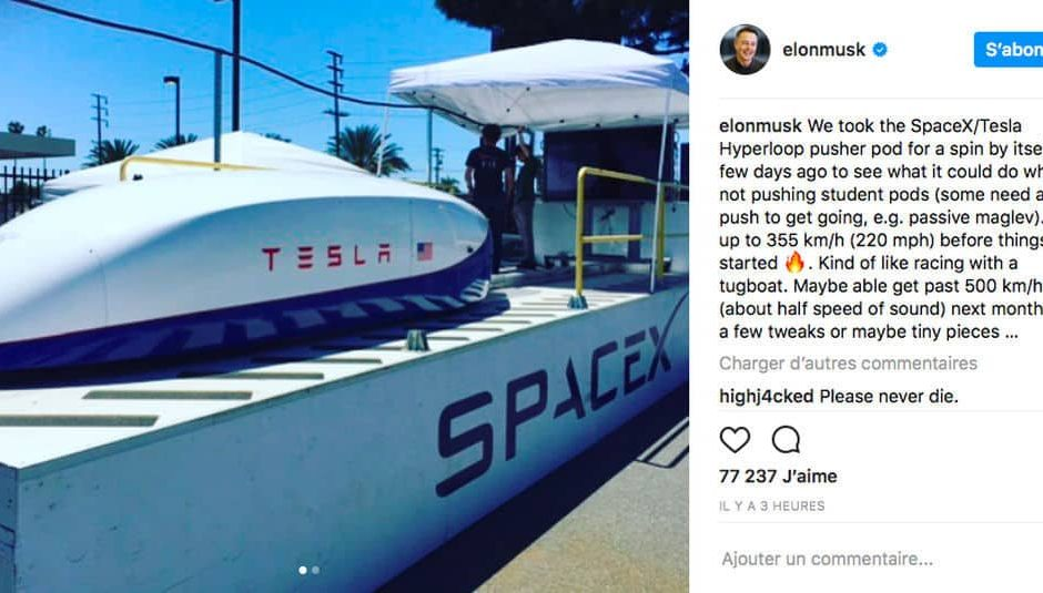 Post Instagram record Tesla