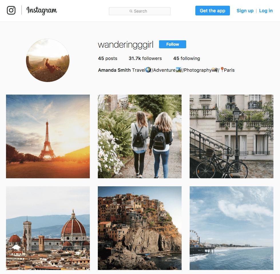 Faux compte Instagram d'influenceur
