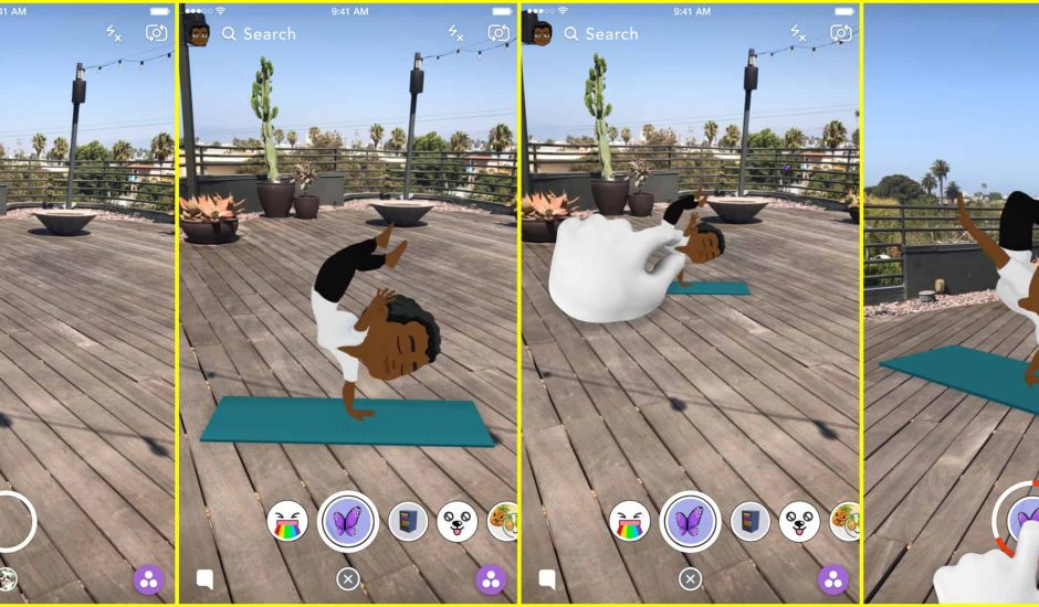 Snapchat Bitmoji World Lenses
