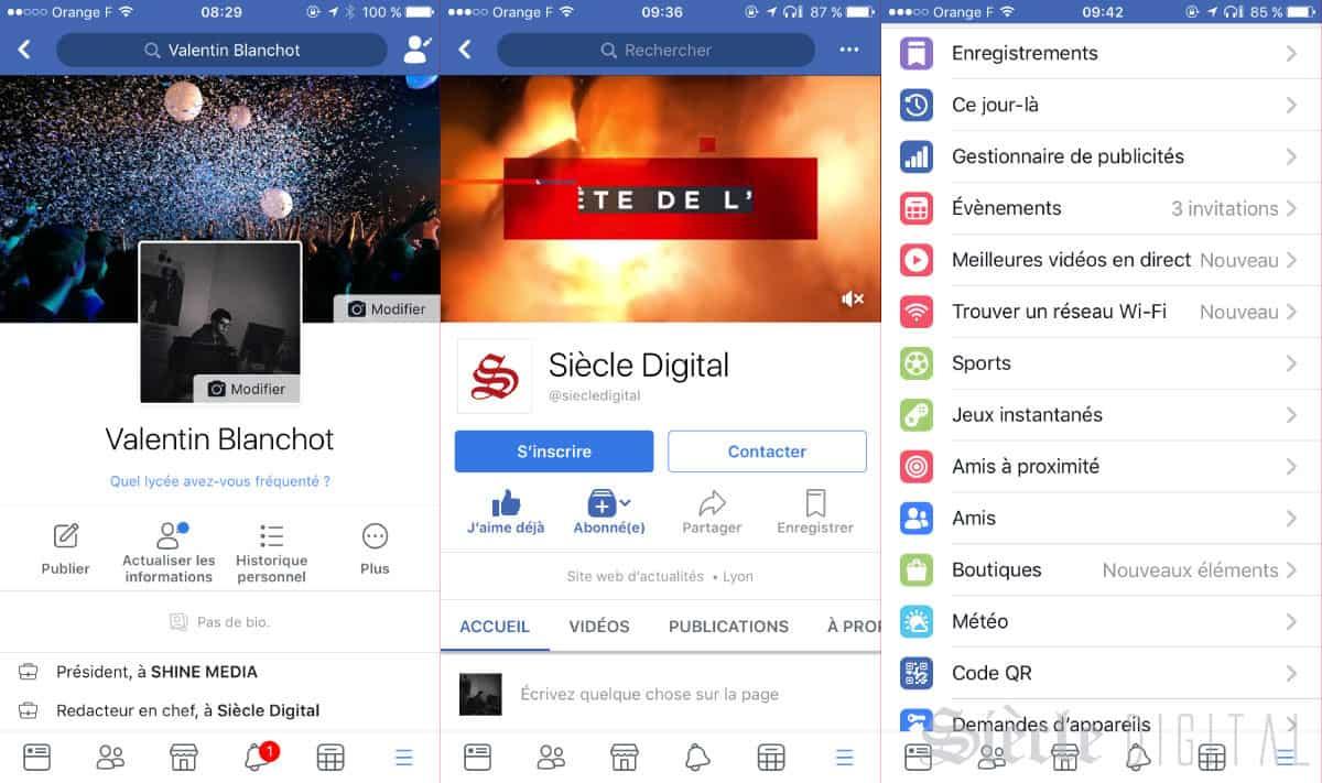 Facebook nouvelles icones