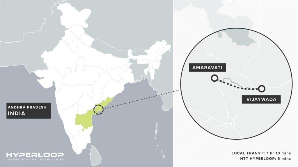 Hyperloop en Inde