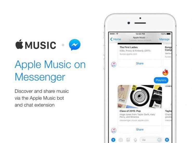 Apple Music dans Messenger