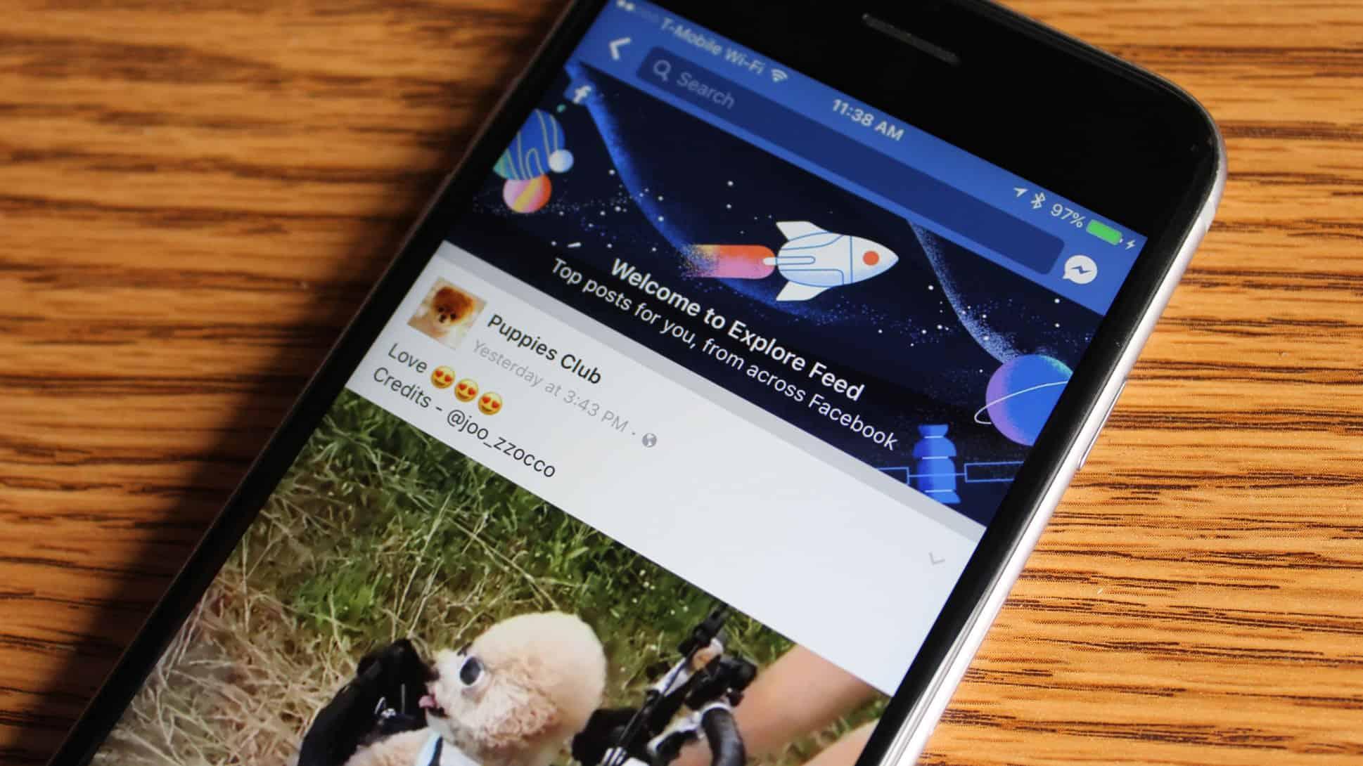 Facebook Explorer mobile