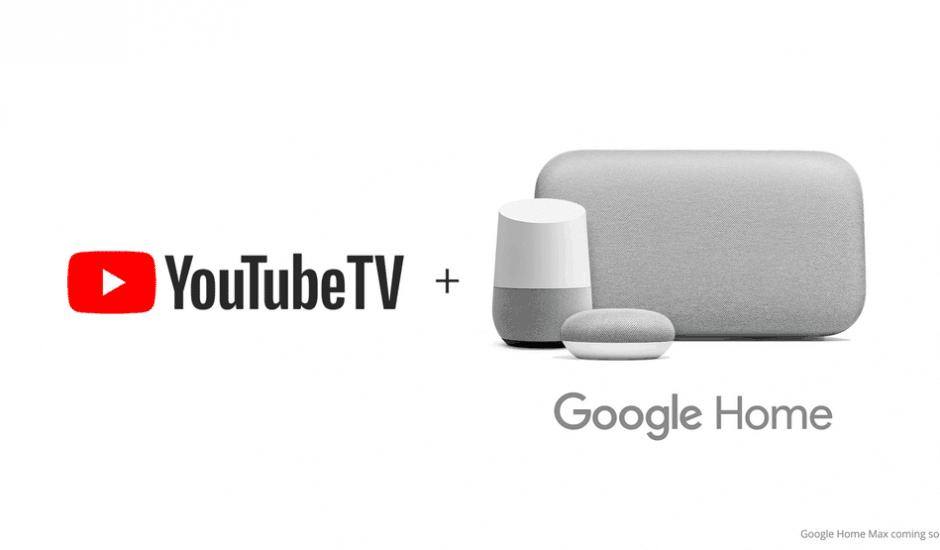 Google Home et Youtube TV