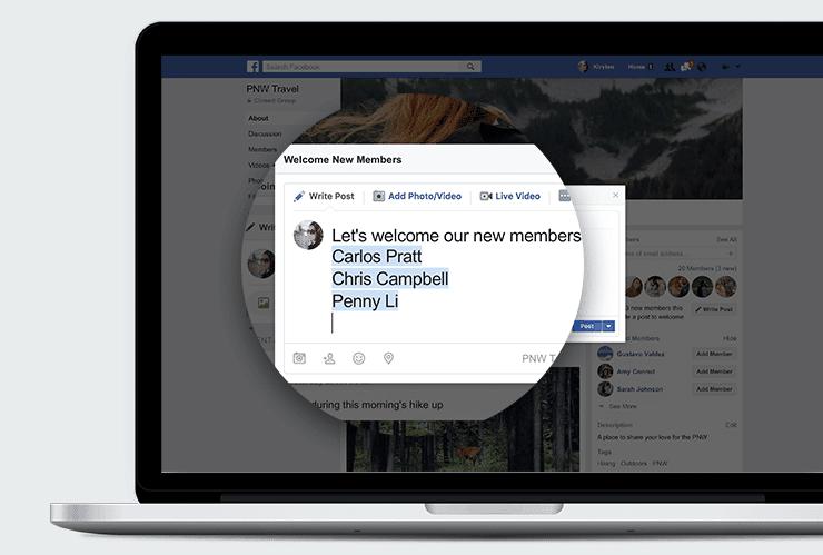 groupe Facebook : publication automatique post de bienvenue