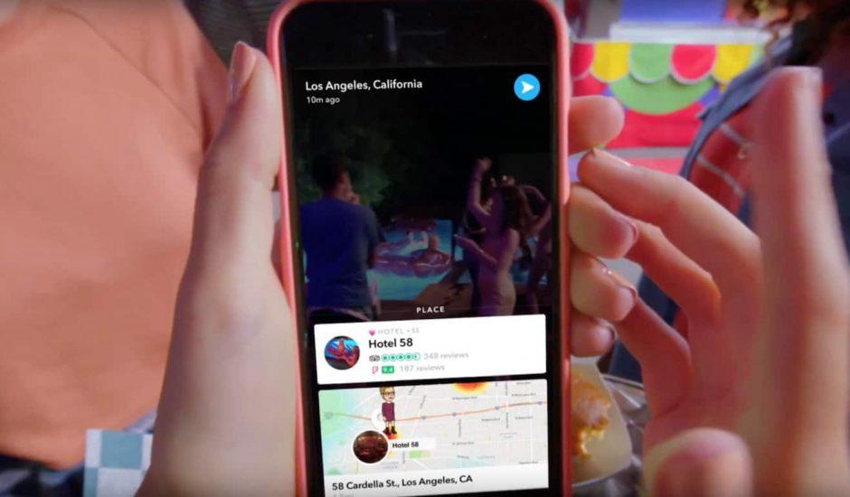 Snapchat Context Cards