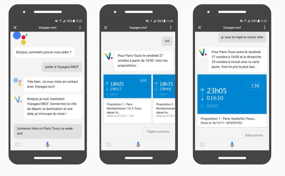 Google Assistant SNCF