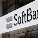 L'enseigne de SoftBank sur un bâtiment