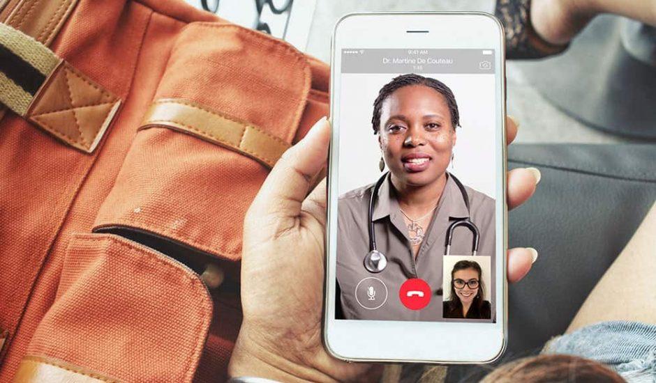 Consultation appel video NHS
