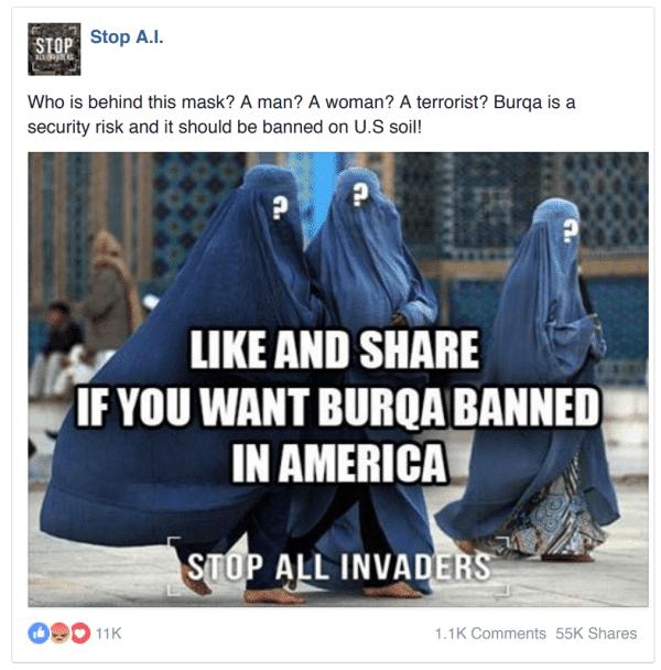 fake ads exemple de l'influence