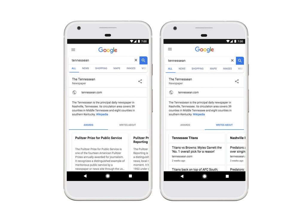 google informations editeurs