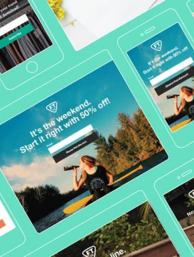 création de landing page avec Mailchimp
