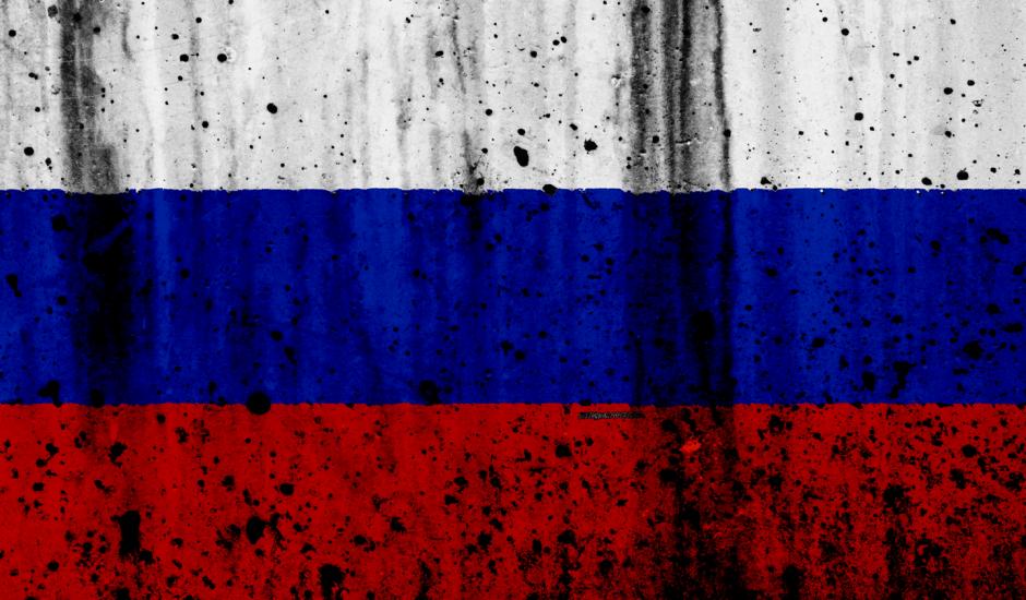 Russie drapeau escrocs