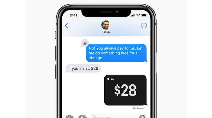 apple pay transfert argent contact