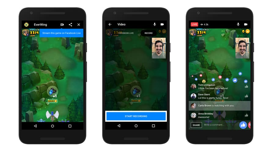 instant games messenger live streaming