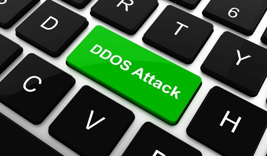 """Une touche """"DDOS Attack"""" sur un clavier"""