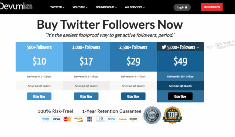 twitter fake followers devumi