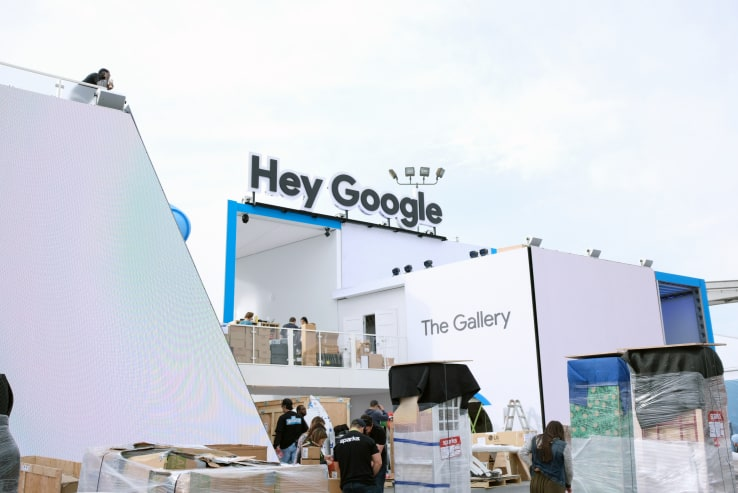 stand Google CES 2018