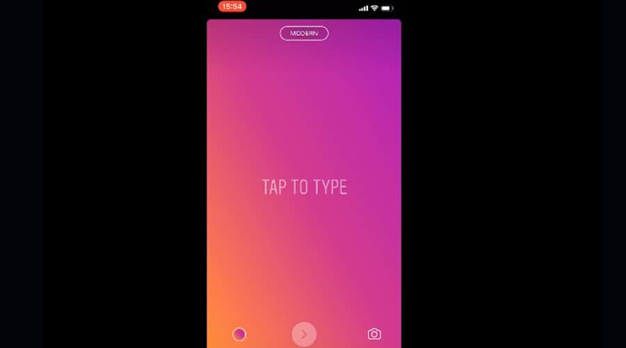 instagram pemet de choisir la typographie dans les stories parmi une sélection