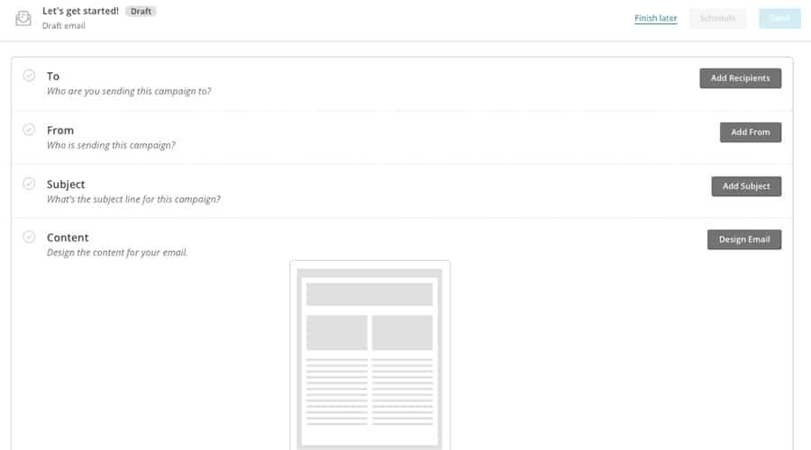 mailchimp revoit son ancienne interface du campaign builder