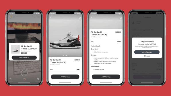 Nike et Snapchat s'associent à l'occasion du lancement de la nouvelle paire de Jordan.