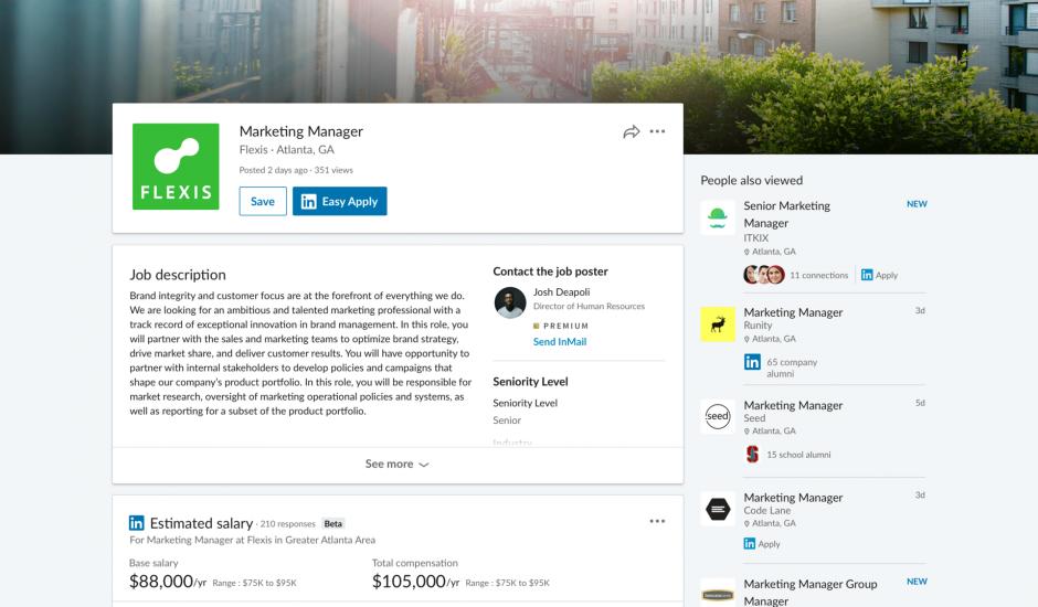 Estimation des salaires sur LinkedIn