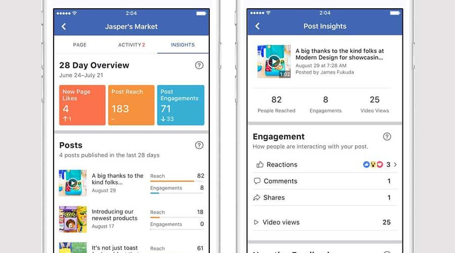 facebook refonte design insights mobile