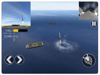 SpaceX : simulation jeu mobile