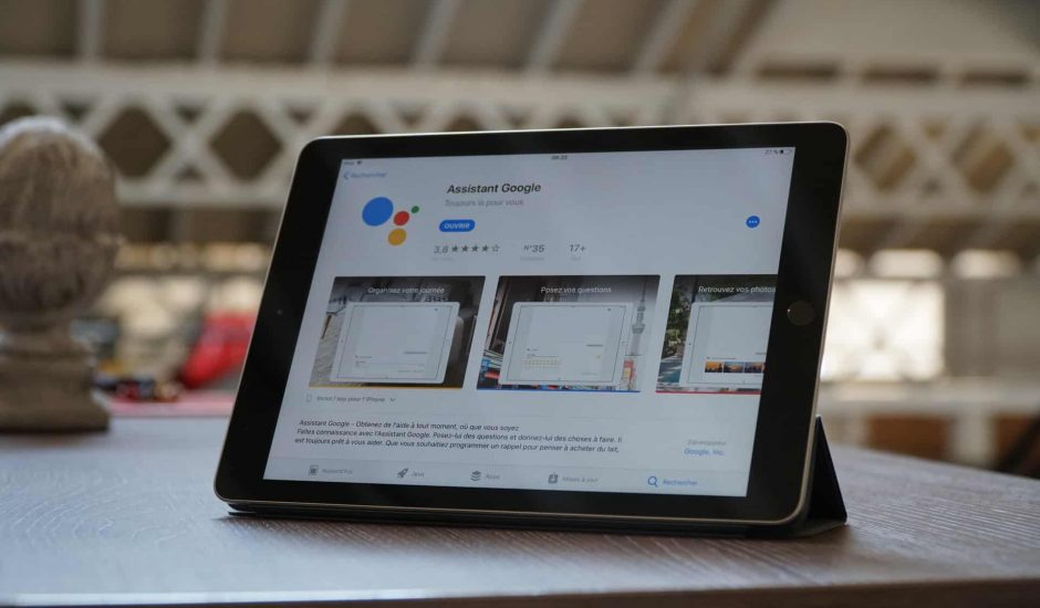 google assistant apercu ipad