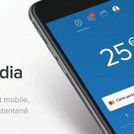 Un smartphone avec l'application Lydia.