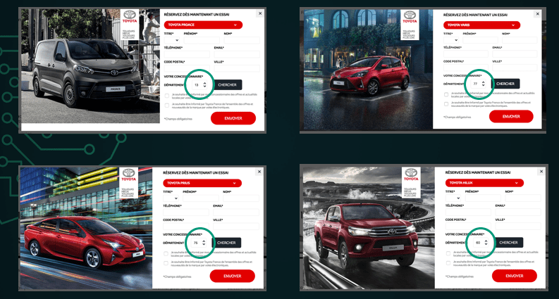 Toyota machine learning leads formulaire